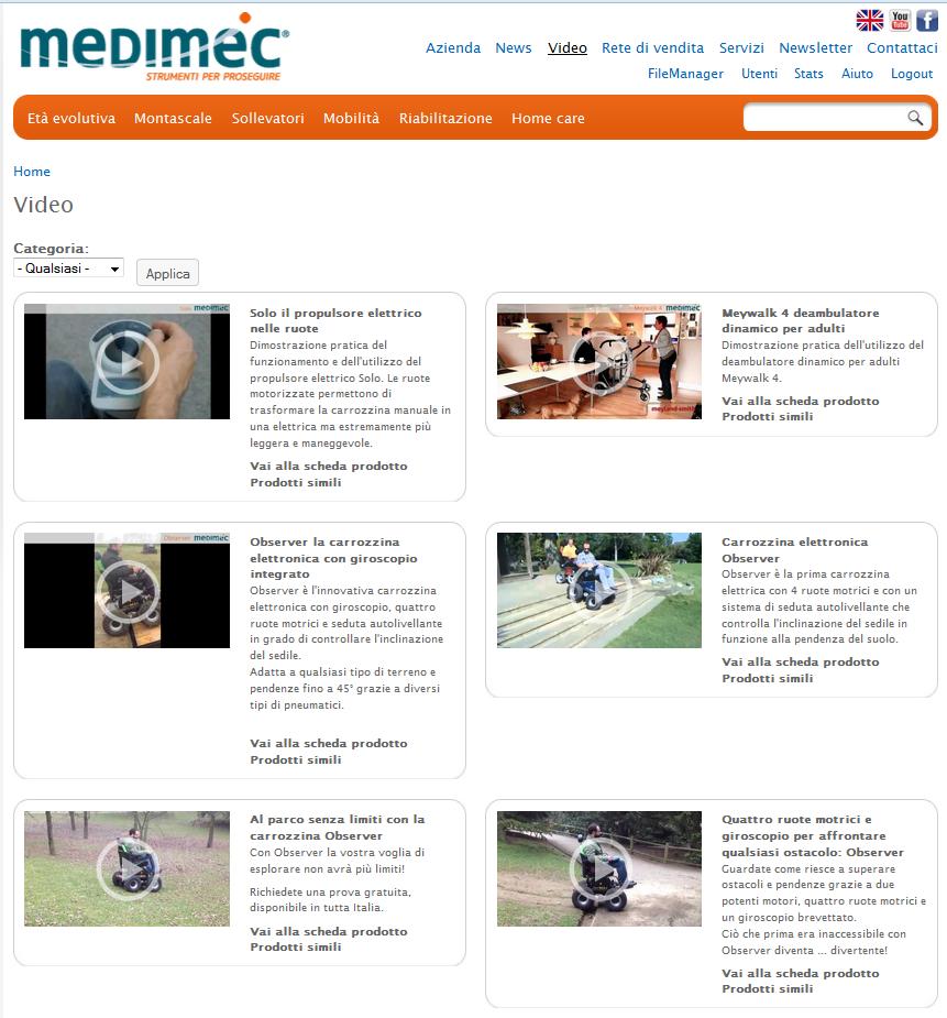 Novit dal sito medimec medimec international srl for Medimec international srl
