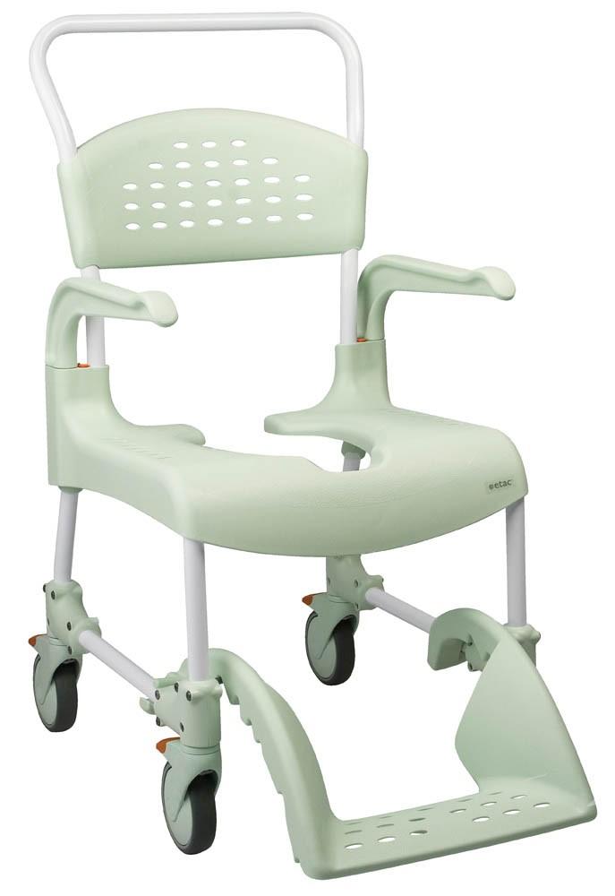 Clean sedia per wc e doccia con ruote medimec for Medimec international srl
