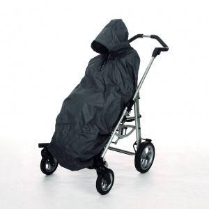 Cappottina parapioggia grigia per passeggino