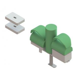 Supporto regolabile per le ginocchia a T