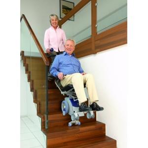 Montascale a ruote con poltroncina rimovibile s-max sella AAt per anziani