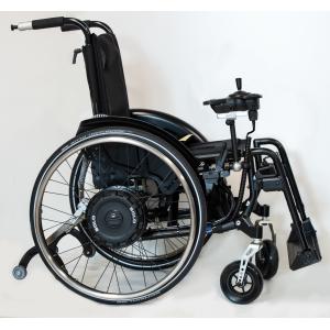 Solo Black Edition propulsore elettrico con motore nelle ruote per carrozzina manuale