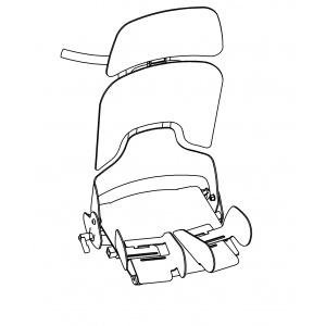 Supporti per abduzione delle gambe per seggiolone posturale Schuchmann