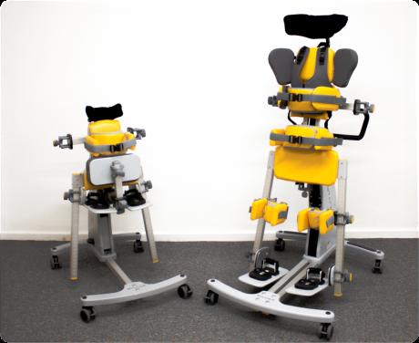 Stabilizzatore per statica in postura prona/supina con abduzione ed adduzione dei supporti per gli arti inferiori Standz