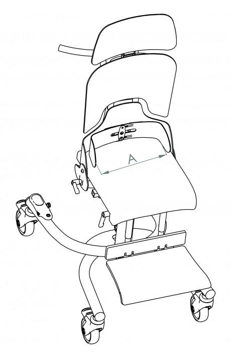 Supporti pelvici posteriori per seggiolone posturale Schuchmann
